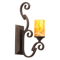 Kalco Lighting Ibiza 1 Light Wall Bracket in Antique Copper 4257AC/CALC