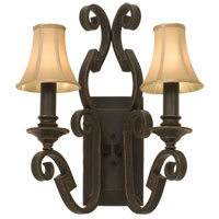 Kalco Lighting Ibiza 2 Light Wall Bracket in Antique Copper 4258AC/S47 photo thumbnail