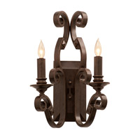 Ibiza 2 Light 16 inch Copper Claret Wall Bracket Wall Light in Without Shade, Without Glass