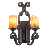 Kalco Lighting Ibiza 2 Light Wall Bracket in Antique Copper 4259AC/CALC