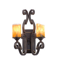 Kalco Lighting Ibiza 2 Light Wall Sconce in Tawny Port with Natural Calcite Shade 4259TP/CALC photo thumbnail