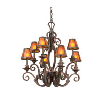 Ibiza 8 Light 30 inch Antique Copper Chandelier Ceiling Light in Without Shade, Without Glass