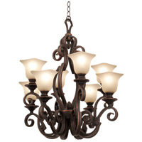 Kalco 4262AC/1265 Ibiza 8 Light 30 inch Antique Copper Chandelier Ceiling Light in Large Piastra (1265)