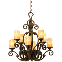Ibiza 8 Light 30 inch Tawny Port Chandelier Ceiling Light in Calcite (CALC), Antique Copper