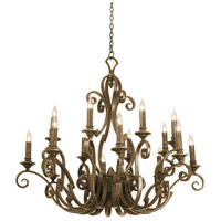 Kalco Lighting Ibiza 16 Light Chandelier in Antique Copper 4263AC/NoShade