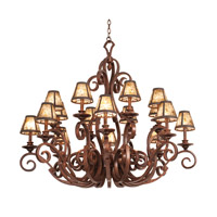 Kalco Ibiza 16 Light Chandelier in Tortoise Shell 4263TO/S240