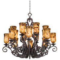 Kalco 4264AC/PS5201 Ibiza 16 Light 50 inch Antique Copper Chandelier Ceiling Light in Penshell (PS5201)