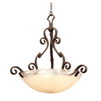 Ibiza 5 Light 33 inch Copper Claret Pendant Ceiling Light in Antique Filigree (G3533)