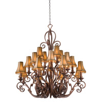 Ibiza 20 Light 51 inch Copper Claret Chandelier Ceiling Light in Without Glass, Large Beaded Taupe (S15)