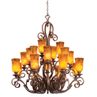 Kalco Ibiza 20 Light Chandelier in Copper Claret 4274CC/NS09
