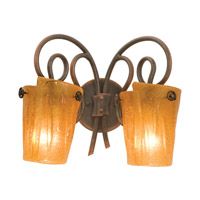 Kalco 4282AC/FLAME Tribecca 2 Light 16 inch Antique Copper Bath Light Wall Light in Flame (FLAME) photo thumbnail