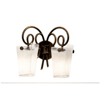 Kalco 4282AC/FROST Tribecca 2 Light 16 inch Escalante Bath Vanity Wall Light in Frost (FROST), Antique Copper