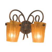 Kalco Tribecca 2 Light Bath Light in Antique Copper 4282AC/G11B