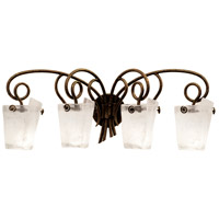 Kalco 4284AC/FROST Tribecca 4 Light 34 inch Antique Copper Bath Vanity Wall Light in Frost (FROST)