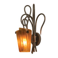 Kalco Lighting Tribecca 1 Light Wall Sconce in Antique Copper 4285AC/FLAME
