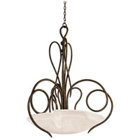 Kalco 4287AC/FROST Tribecca 3 Light 23 inch Antique Copper Pendant Ceiling Light in Frost (FROST)