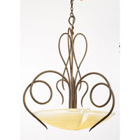 Tribecca 3 Light 23 inch Tortoise Shell Pendant Ceiling Light