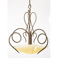 Kalco Lighting Tribecca 3 Light Pendant in Tortoise Shell 4287TO/G14C