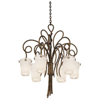 Kalco 4289AC/FROST Tribecca 6 Light 32 inch Antique Copper Chandelier Ceiling Light in Frost (FROST)