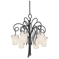 Kalco 4289TO/FROST Tribecca 6 Light 32 inch Tortoise Shell Chandelier Ceiling Light in Frost (FROST)