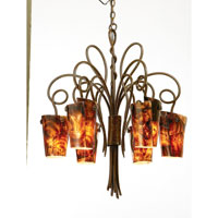 Kalco Tribecca 6 Light Chandelier in Tortoise Shell 4289TO/G10E