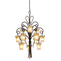 Tribecca 12 Light 36 inch Tortoise Shell Chandelier Ceiling Light in ANTQ, Antique Copper