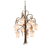 Kalco 4290AC/FROST Tribecca 12 Light 36 inch Antique Copper Chandelier Ceiling Light in Frost (FROST)