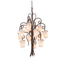 Kalco 4290TO/FROST Tribecca 12 Light 36 inch Tortoise Shell Chandelier Ceiling Light in Frost (FROST)