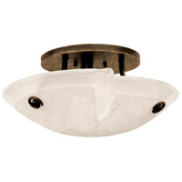 Kalco 4296AC/FROST Tribecca 3 Light 16 inch Antique Copper Flush Mount Ceiling Light in Bowl glass,  16