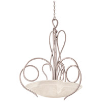 Kalco 4297PS/ANTQ Tribecca 6 Light 37 inch Pearl Silver Pendant Ceiling Light in ANTQ