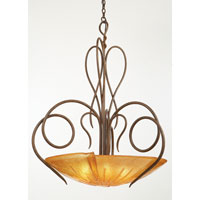 Kalco 4297CI/FROST Tribecca 6 Light 37 inch Country Iron Pendant Ceiling Light