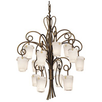Kalco 4299AC/FROST Tribecca 16 Light 48 inch Antique Copper Foyer Ceiling Light in Frost (FROST)