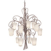 Kalco 4299PS/FROST Tribecca 16 Light 48 inch Pearl Silver Foyer Ceiling Light in Frost (FROST)