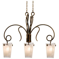Kalco 4300AC/FROST Tribecca 3 Light 37 inch Antique Copper Island Ceiling Light in Frost (FROST)