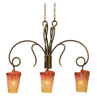 Kalco Tribecca 3 Light Island Light in Antique Copper 4300AC/G10A