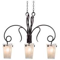 Kalco 4300TO/FROST Tribecca 3 Light 37 inch Tuscan Sun Island Light Ceiling Light in Frost (FROST) Tortoise Shell