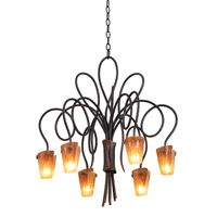 Tribecca 6 Light 25 inch Country Iron Chandelier Ceiling Light