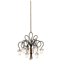 Kalco 4308AC/FROST Tribecca 6 Light 25 inch Antique Copper Chandelier Ceiling Light in Frost (FROST)