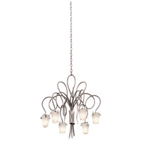 Kalco 4308TO/FROST Tribecca 6 Light 25 inch Tortoise Shell Chandelier Ceiling Light in Frost (FROST)