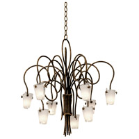 Kalco Lighting Tribecca 9 Light Chandelier in Antique Copper 4309AC/FROST