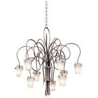 Kalco 4309TO/FROST Tribecca 9 Light 30 inch Tortoise Shell Chandelier Ceiling Light in Frost (FROST)