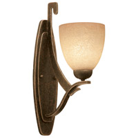 Copenhagen 1 Light 5 inch Antique Copper Wall Bracket Wall Light in Ecru (1365)