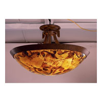 Copenhagen 3 Light 21 inch Tortoise Shell Semi Flush Mount Ceiling Light in Victorian Penshell (PS122)