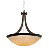 Kalco 4348AC/G3535 Copenhagen 6 Light 40 inch Tortoise Shell Pendant Ceiling Light in Antique Filigree (G3535), Antique Copper