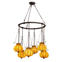 Kalco Lighting Mardi Gras 6 Light Chandelier in Black 4436B/1434