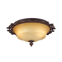 Hamilton 2 Light 18 inch Tuscan Sun Flush Mount Ceiling Light in Without Glass, Tawny Port