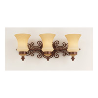 Hamilton 3 Light 25 inch Copper Claret Bath Light Wall Light in Without Glass