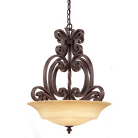 Hamilton 3 Light 24 inch Tuscan Sun Pendant Ceiling Light in Without Glass, Tawny Port