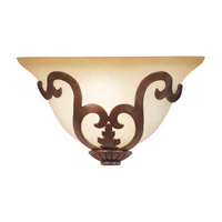 Florentine 1 Light 13 inch Antique Copper ADA Wall Sconce Wall Light in Sconce glass,  1/2 hat Smoked White (7355), Copper Claret