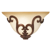 Kalco 4505TN/7352 Florentine 1 Light 13 inch Tuscan Sun ADA Wall Sconce Wall Light in Sconce glass,  1/2 hat White Alabaster (7352)